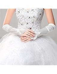DELLT- Minimaliste Mode Slim Bridal Gants Mariée Robe de Mariée Robe de Soirée Exquise