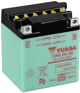 Motorrad Batterie Yuasa 12n5 5a 3b Dc Offen Ohne Säure 12v 5 5ah Cca 55a 103x90x114mm Auto