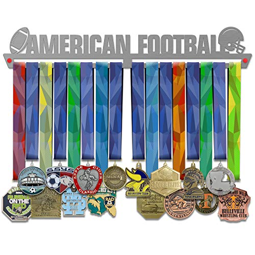 VICTORY HANGERS Medaillen Aufhängen AMERICAN FOOTBALL Medal Hanger * Medal Display V2  Medaillenhalter   Elegant Sport Medaillen Anzeige * Super Gualität Edelstahl   Medaille Halterung Wand-Dekor   Für Die Champions !