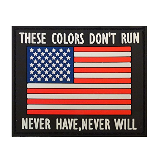 THESE COLORS DON'T RUN American Bandiera Morale PVC Gomma Velcro Toppa Patch