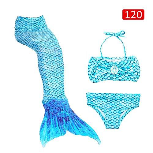 Cosy-TT 3 Stück Mädchen Badeanzug Meerjungfrau Schwänze für Schwimmen Prinzessin Bikini Badeanzug Set, Badeanzug Bademode Kostüm COS Geschenk für Kinder