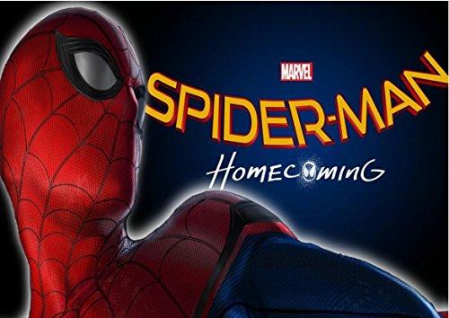 Spiderman Home Coming Herren Spinne Waffel in Ostia für Kuchen personalisierbar-Kit N ° 9cdc- (1Waffel in Ostia Abmessungen Folio A4210× 297mm)