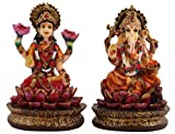 Sunny Corps Laxmi Ganesha Statue, Lakshmi Ganesha Idol Laxmi Ganesh Murti, Lakshmi Ganesha Showpiece, Diwali Gift, Lxhxw(cm) = 15X11.5X7.5
