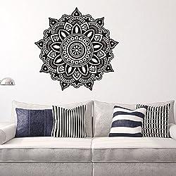 Skyeye Decoración para el Hogar Pegatinas de Pared Recién Llegado Calcomanías Mandala Pegatinas de Pared Pegatinas Indio Buda Símbolos Creativos Mural Decoración de la Habitación