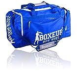 BOXEUR DES RUES Fight Activewear Borsa per la Palestra con Tracolla Regolabile, Blu, Taglia Unica