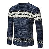Suéter de hombre Otoño invierno Jersey de punto delgado Abrigo de hombre Tops Blusas LMMVP (M,...