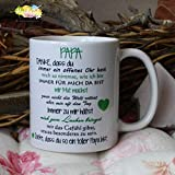 Kaffeebecher ~ Tasse - PAPA, Danke -ich~ Weihnachten Vatertag Geschenk