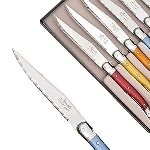 Coffret de 6 Couteaux à steak Laguiole ABS coloris assortis