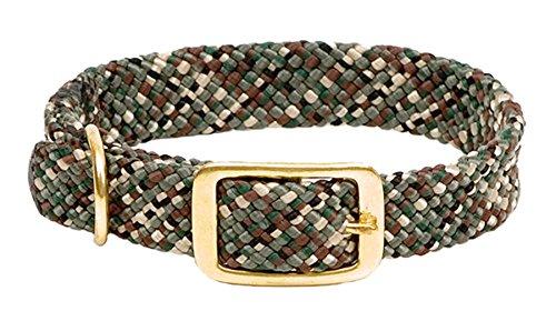 Mendota Products Double Braid Dog Collar, Camo, 9/16 x 12-inch
