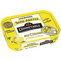 Connétable Sardines sans aretes citron La boîte de 140g - Prix Unitaire - Livraison Gratuit Sous 3 Jours