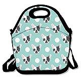 French Bulldog Pattern Lunch Bag Adjustable Strap