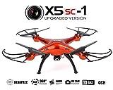 Syma X5SC Nouvelle Version Syma X5SC-1 Falcon Drone Caméra HD 2.4G 4 Canaux à Distance Quadcopter Contrôle 6 Axe Flip 3D Fly UFO 360 Degree Eversion - Rouge