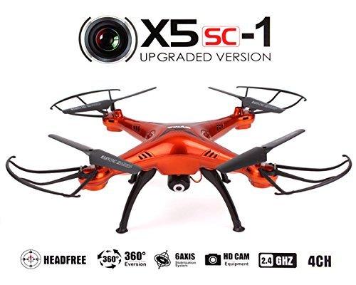 Drone-Quadricoptre-SYMA-X5SC-1-avec-CAMRA-VIDO-HD-2MP-Nouvelle-version-2015-du-modle-X5C-ORANGE