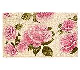 Dehner Fußmatte Rosen, ca. 75 x 45 cm, Kokosfaser