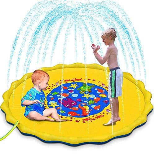 Autbye Splash Pad Umweltfreundliches PVC Material Sprinkler und Splash Play Matte Sommer Garten Wasserspielzeug für Baby Kinder (170CM)