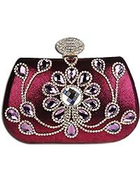 KAXIDY Luxus Abendtasche Handtasche Unterarmtasche Funkelndem Strassbesatz Damentasche Tasche Handtasche