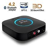 REIIE B06Récepteur Bluetooth pour son HDRécepteur sans fil de grande qualité pour son en streaming compatible son surround 3DPuce CRS Bluetooth 4.2dernière génération-