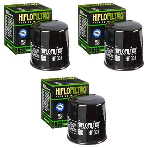 3x Ölfilter Yamaha YZF-R6 600 03-05 Hiflo HF303