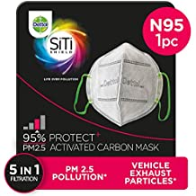 Dettol Anti Pollution Mask N95 Siti Shield Activated Carbon, 1 Unit