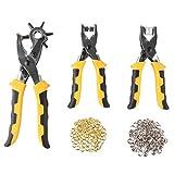 FIXKIT 3pcs Leder stanzen und Knöpfe drucken Werkzeug set