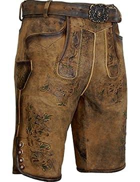 kurze Ziegen Lederhose mit Koppelgürtel Anselm von Almsach