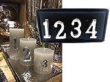itsisa Kerzenstecker für Adventskerzen, 4er Set Kerzenzahlen Vintage Advent - Adventskranz basteln, Adventsdeko