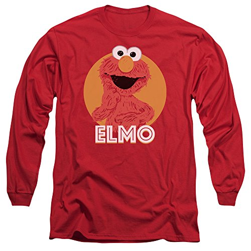 Sesame Street Herren Langarmshirt Rot