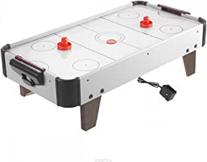 Fantasy Kid's Rechargeable Wooden Air Hockey Game Table, 440g (Black and White, sz-airhockey-hg278-medium01)