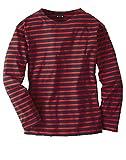 Bretonisches Fischerhemd Unisex Klassisch Gestreift Langarmhemd Farbe marine/rot, Größe XXXL