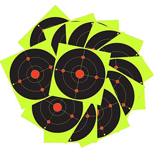 P Prettyia 50 Stück 8 Zoll Stick, Splatter Reactive Self Adhesive Schießscheiben