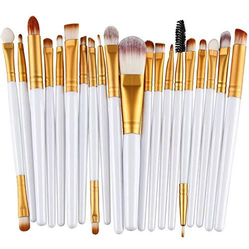 EgBert 20Pcs Multifonctionnel Maquillage Pinceaux Maquillage Yeux Maquillage Pour Les Lèvres Pinceaux Outil Cosmétique - 01#