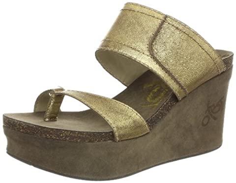 OTBT Women's Brookfield Wedge Sandal,Gold,7 M