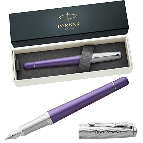 PARKER Füllfederhalter URBAN PREMIUM Violet C.C. 1931620 mit persönlicher Laser-Gravur