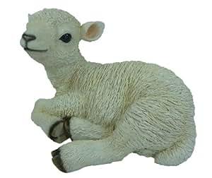 Vivid Arts agneau assis Réaliste (Taille D - Moyenne)