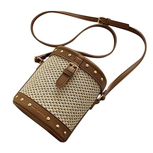 Mitlfuny handbemalte Ledertasche, Schultertasche, Geschenk, Handgefertigte Tasche,Frauen-Mode-Webart-Umhängetaschen-Damen-Retro- Landschafts-Freizeit-Eimer-Taschen - Fendi Hobo Leder Tasche