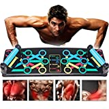 Coriver 14 in 1 Push Up Rack Board, Opvouwbare Push-up Stands Beugel Board Systeem Workout Board Gym Training Spierbord Thuis Fitnessapparatuur (14 in 1)