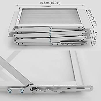 Voilamart A4 Exhibition Stand, 6-section Display Stand Double Sided Shelves Folding Floor Display Stand Portable Magazine Brochure Literature Leaflet Holder Catalogue Reference Racks For Exhibition Trade Show Showroom Reception With Carry Case, Silver 148x35 X27cm 4