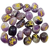 Harmonize getrommelt Amethyst Stein mit Runen Meditation Heilung Kristall Alphabet Symbol reiki Ausgleich preisvergleich bei billige-tabletten.eu