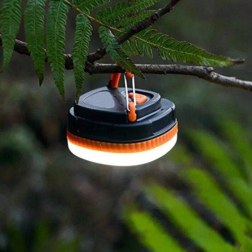 UltraFire LED Camping Laternen USB Campinglampe Wiederaufladbar 4 Modi Weiß / Rot Licht,Eingebaute Batterie,Magnetische Basen,UFC03O,Wasserdicht Campingleuchte Led Zeltlampe (Orange)
