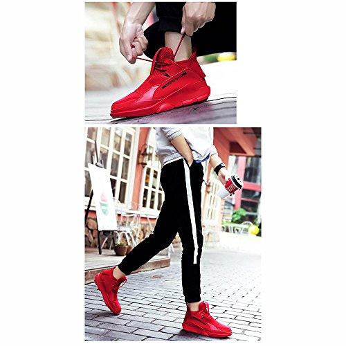 XIAOLIN Inverno Scarpe Da Uomo Leisure Versione Coreana Moda Aumento All'interno Del Scarpe Piatte ( Colore : Bianca , dimensioni : EU/41/UK7.5-8/CN42 ) Rosso