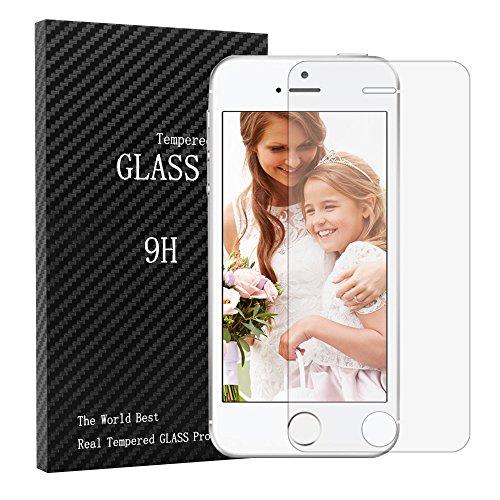 iPhone 5S / SE / 5 Schutzglas - YOKIRIN Schutzfolie Panzerglas Gehärtetes Glas 9H Härte Screen Protector HD Displayschutzfolie, Anti-Staub Anti-Fingerabdruck Wasserdicht Explosionsschutz