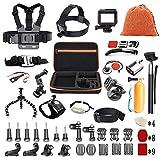 Pieviev 60-in-1 GoPro Zubehör Set für GoPro Hero 6 5 4 3+ 3 2 1, Action Cam Gopro Hero 7 2018 Session 5 Black Sport kameras AKASO EK7000 Apeman SJ4000/SJ5000/SJ5000X/SJ6 DBPOWER VicTsing Rollei