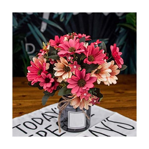 LSTC Flores Artificiales, 9 Ramas 25 Cabezas de crisantemo Artificial, Flores Falsas para el hogar, jardín, Boda, Fiesta, decoración de Mesa