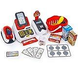 Holdtobaby Kind Einkaufen Spielzeug Supermarkt Szene Haus Kind Simulation Supermarkt Einkaufen Kassierer Kasse Kombination Anzug