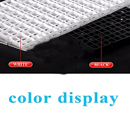 CCCYMM 4 Pcs Grid Divider Tray Egg Crate Louvre Aquarium Fish Tank Bottom Isolation,Black 3