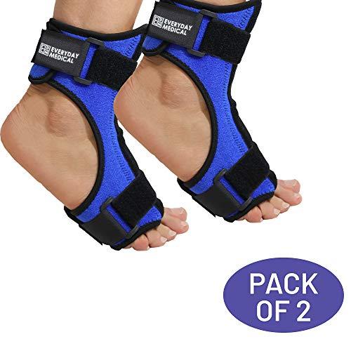 Packung mit 2 Plantarfasziitis Nacht-Orthese | Fersensporn-Bandage mit Biegsamer Fußspann-Schiene für Stabilisierung nach Fußverletzung |Hilft bei Fersensporn,Achillessehnenentzündung,Fersenschmerzen -