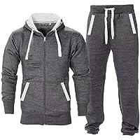 Black//Steel, 11-12 Years Boys Kids Fleece Tracksuit Jogging Bottom Hoodie Junior Age 7 to 13