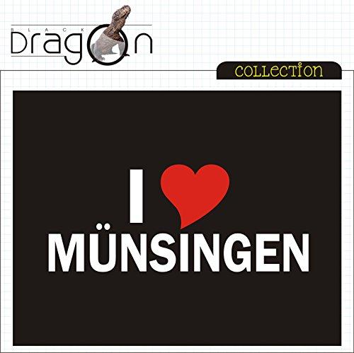T-Shirt mit Städtenamen - i Love Münsingen- Herren - unisex Schwarz