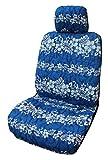 Made in Hawaii; Hawaiian Marineblau Hibiskus Wave Separate Kopfstütze Auto Sitzbezüge von Winnie Fashion