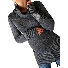 Divita Umstandsmode Umstandspullover Schwangerschaftspullover mit bändchen